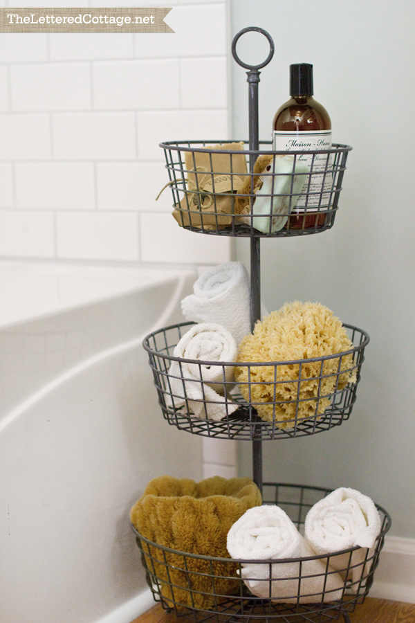 Fruit basket storage bathroom