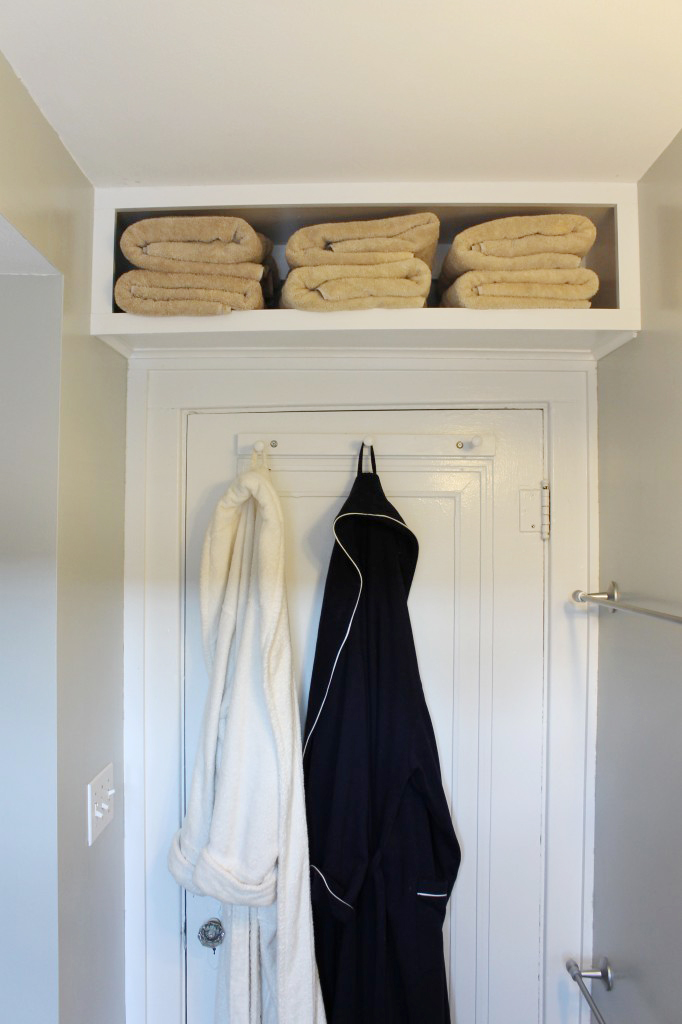 Over door shelf bathroom storage