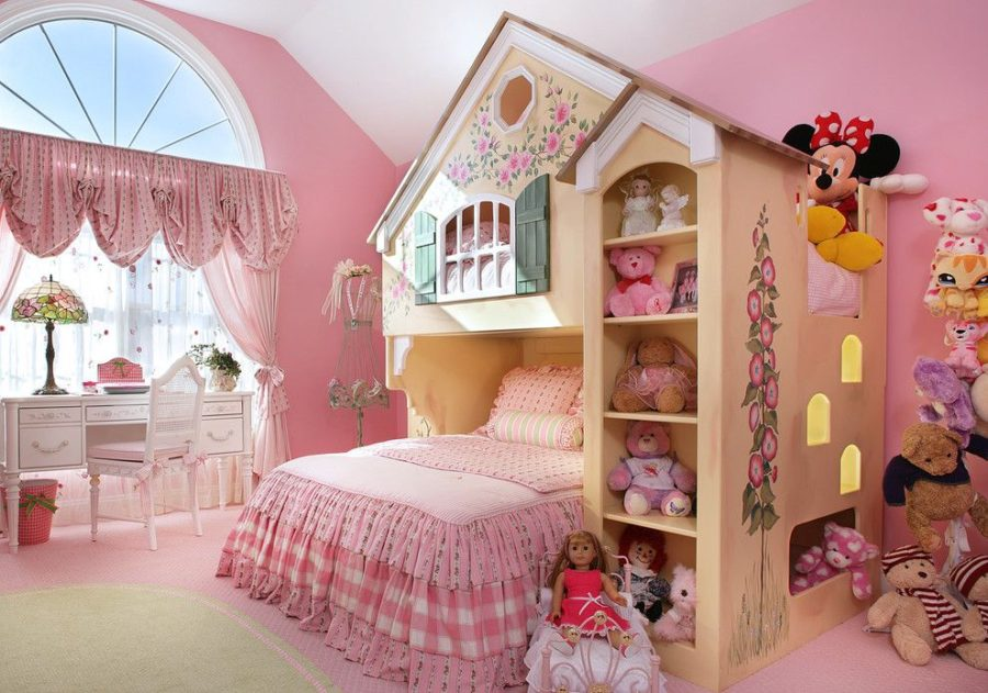 Playhouse girl bedroom decor