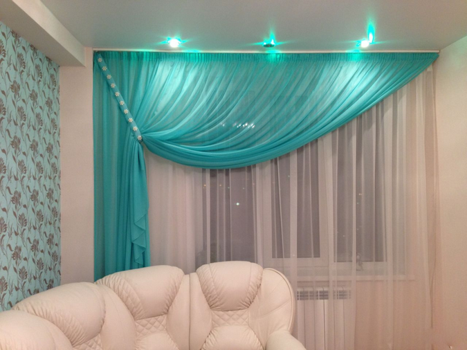 turquoise curtains for peach wallpaper
