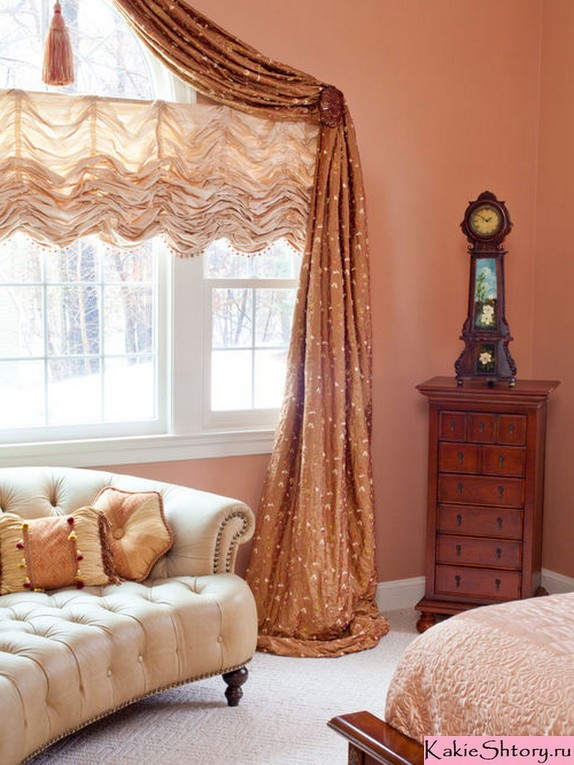 curtains to peach walls