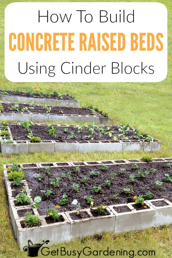 Building a concrete block raised bed is easy and inexpensive. Learn how to build a raised garden bed with concrete blocks (aka cinder blocks) with this super simple concrete block raised bed design, and easy to follow step-by-step instructions for making your own DIY raised garden beds.