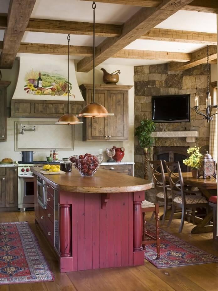 фото оформления деревенской кухни что мусор