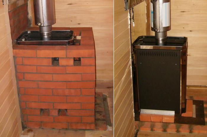 how brick-impose a metal stove in the bath
