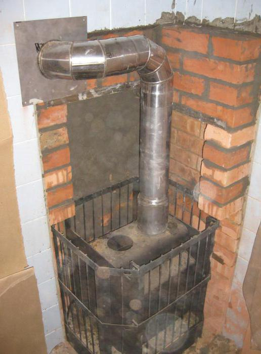 how to install stove with a brick