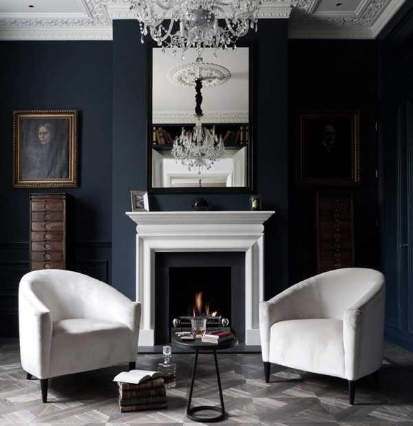 Интерьер с темными обоями – правила сочетания оттенков для стильного дизайна — ООО «СК «Инросстрой»